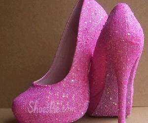 pink, barbie, and shoes image