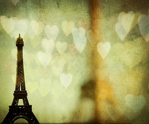 paris, hearts, and eiffel tower image