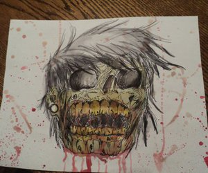 zombie, art, and blood image