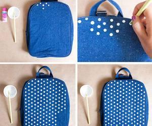 diy, blue, and backpack image