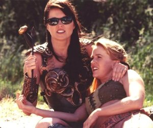gabrielle, xena, and lucy lawless image