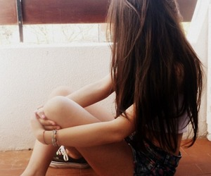brunettes, hair, and girl image