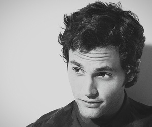 Penn Badgley, gossip girl, and black and white image