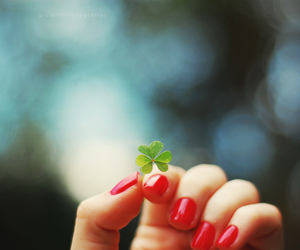 luck, nails, and nature image