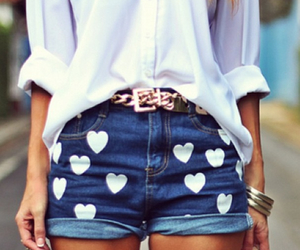 fashion, shorts, and hearts image