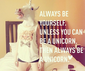 unicorn, quotes, and funny image