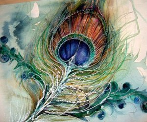 peacock, feather, and art image