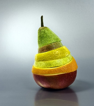 fruit, pear, and apple image