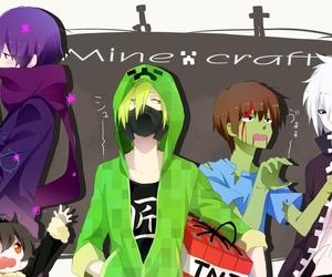 minecraft, anime, and creeper image