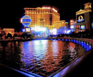 at night, Nevada, and planet hollywood image