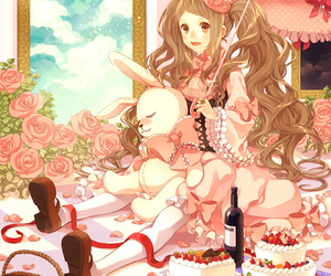 pink, cute, and and lolita image