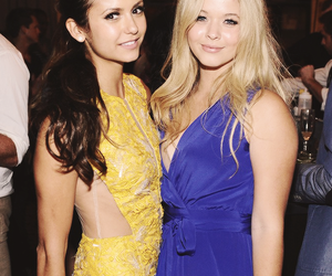Nina Dobrev, sasha pieterse, and pretty little liars image