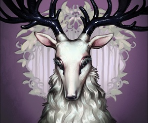 antlers, deer, and stag image