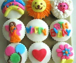 bright, cakes, and creative image