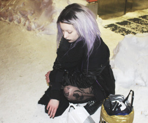 alternative, lavender hair, and black image