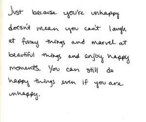 quote, happy, and unhappy image