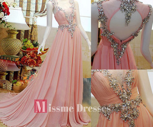 pink, dress, and gown image