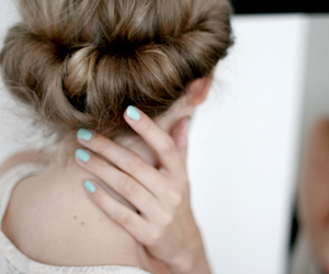 hair, nails, and blonde image
