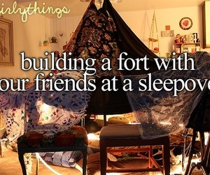 fort, sleepover, and friends image