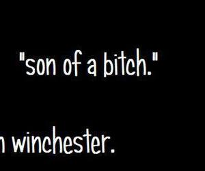 son, supernatural, and bitch image