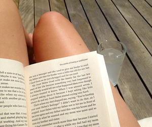 book, drink, and legs image