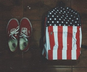 vans, usa, and red image