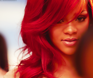 rihanna, red, and hair image