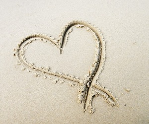 heart, sand, and love you image