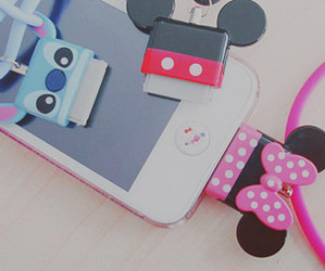 iphone, minnie mouse, and lilo and stitch image
