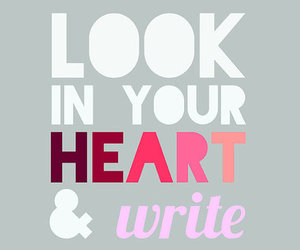 write, heart, and quote image