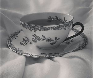 tea and black and white image
