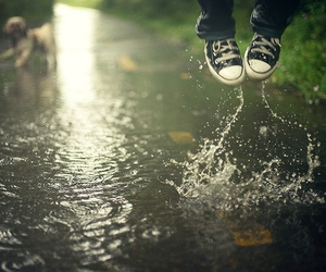 water, rain, and converse image