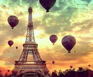 clouds, eiffel tower, and sweet image