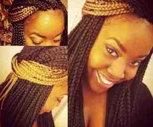 braided hair, hair, and ombre hair image