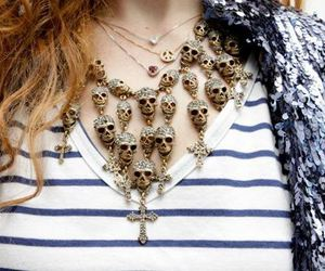 skull, necklace, and colar image
