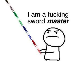 drawing, stick figure, and sword image
