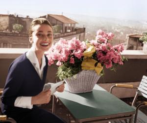 audrey hepburn, flowers, and vintage image