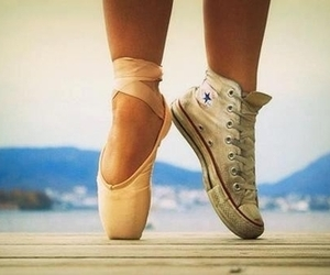 converse, ballet, and dance image