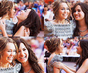 demetria devonne lovato, demi lovato, and miley cyrus image