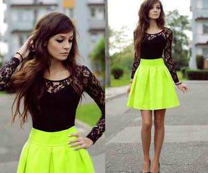 fashion, neon, and dress image