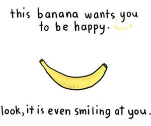 banana, smile, and happy image