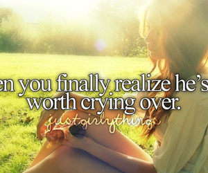 crying, quote, and just girly things image