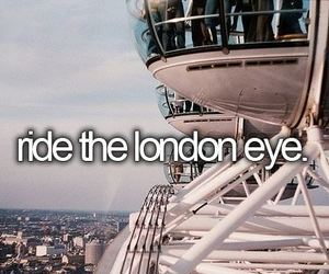 london, london eye, and Dream image
