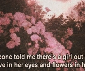 flowers, love, and eyes image
