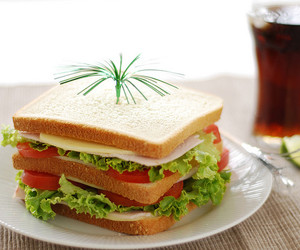 drink, lime, and sandwich image