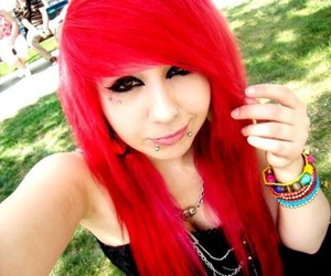 hair, piercing, and red hair image
