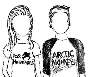 los hermanos, arctic monkeys, and couple image