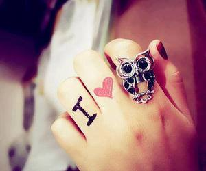 fashion, owl, and ring image