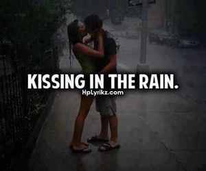 love, kiss, and rain image