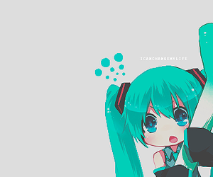 anime, vocaloid, and miku image